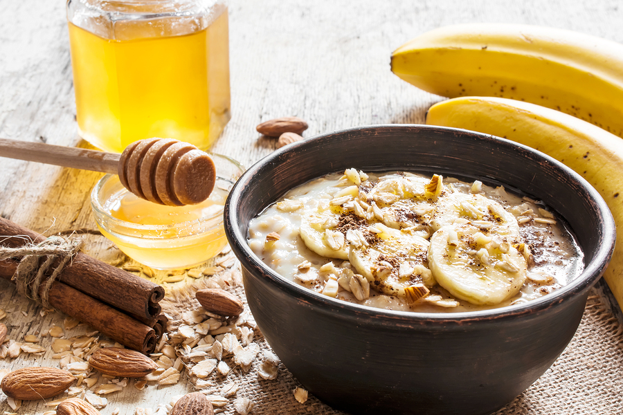 Honning, banan og yoghurt